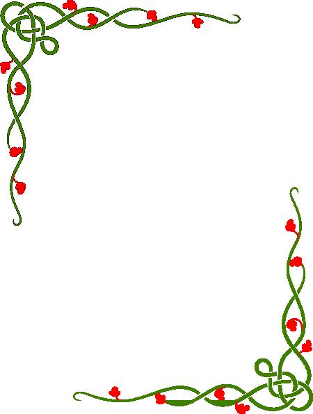 Green/red Vine Clip Art at Clker.com - vector clip art ...
