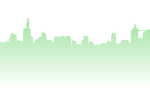 Green Skyline Of City Clip Art