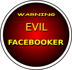 Warning Evil Facebooker Clip Art