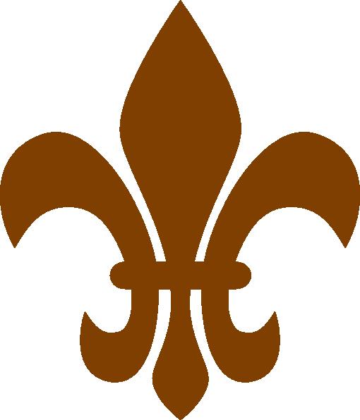 brown fleur de lis clip art at vector clip art online royalty free public domain. Black Bedroom Furniture Sets. Home Design Ideas