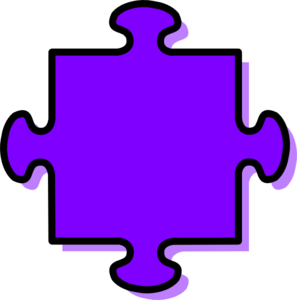Purple Puzzle Piece Clip Art