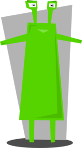Green Martian  Clip Art