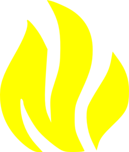 Yellow Solid Flame Clip Art