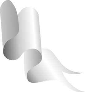 White Ribbon Pieces 6 Clip Art