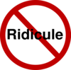 No Ridicule Clip Art