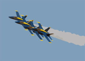 The U.s. Navy S Flight Demonstration Team, The Blue Angels Put On A Spectacular Show During The Annual Naval Air Station Lemoore Air Show. 2 Clip Art