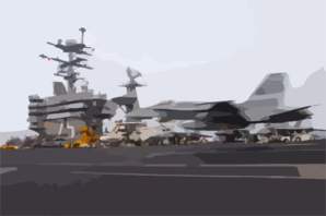An F/a-18 Hornet Makes An Arrested Landing On The Flight Deck Aboard Uss Harry S. Truman (cvn 75) Clip Art
