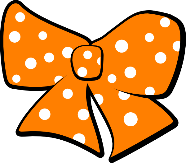 Bow With Polka Dots Clip Art at Clker.com - vector clip art online, royalty free & public domain