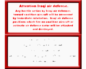 Coalition Aircraft Have Been Dropping Leaflets Urging Iraqi Military Forces Not To Engage Coalition Aircrews.  Leaflets Also Lay Out The Consequences Of Such Actions In An Effort To Ensure Local Civilian Populations Are Properly Informed Clip Art