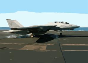 F-14  Tomcat  Aboard Uss George Washington Clip Art