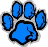 Baby Blue Paw Clip Art