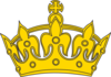 Gold Keep Calm Crown -- Border 2 Clip Art