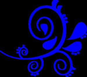 Blue Fancy Swirl Clip Art