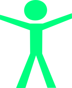 Human Figure Hands Open Green Clip Art