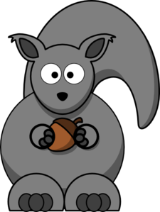 Squirrel Grey Clip Art
