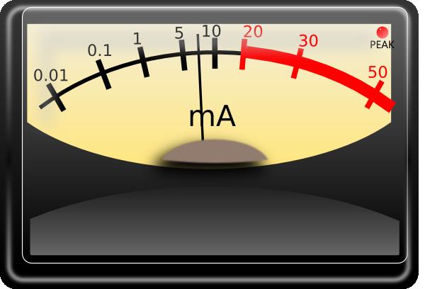 Multimeter Clip Art : Amperage meter clip art at clker vector