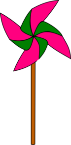 Pink And Green Pinwheel Clip Art