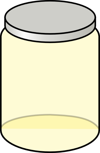 Baby Food Jar Clip Art Yellow jar clip art - vector