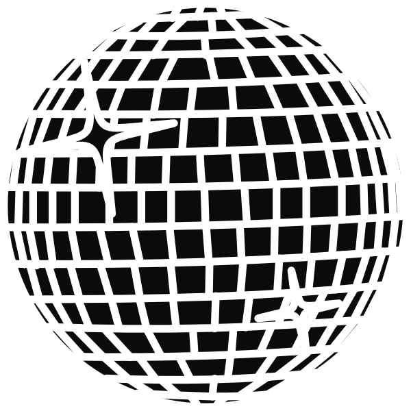 Snow Disco Ball Schwarz Clip Art at Clker.com - vector clip art online ...