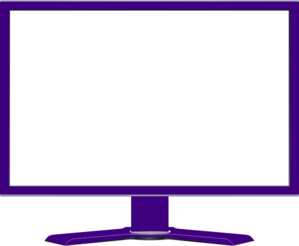 Computer Monitor Blank Screen Clip Art
