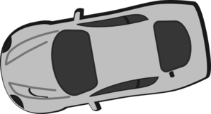 Gray Car - Top View - 190 Clip Art