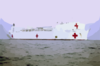 Military Sealift Command Hospital Ship Usns Comfort (t-ah 20), Steams Toward Her First Port-of-call At Naval Station Rota Clip Art