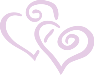 20% Fade Purple Heart Clip Art