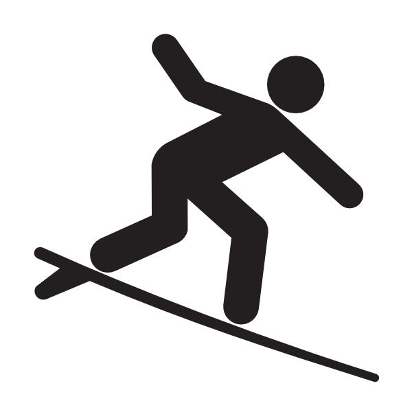 surfer silhouette clip art at clkercom vector clip art