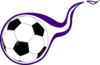 Purple Flame Soccer Ball Clip Art