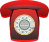 Red Rotary Telephone Clip Art
