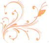 Pink And Orange Flourish Clip Art