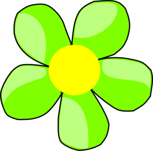 Green Flower 1 Clip Art