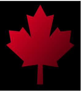 Canada Maple Leaf Pin Black Background Clip Art