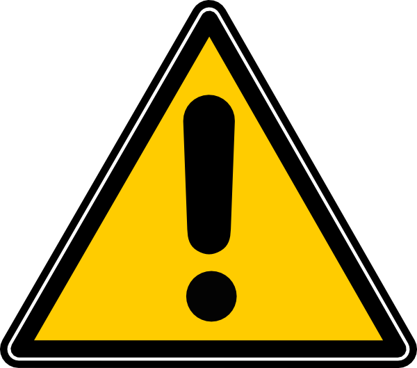 Caution Icon Clip Art at Clker.com - vector clip art ...