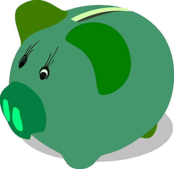 Green Piggy Bank Clip Art At Clker.com - Vector Clip Art ...