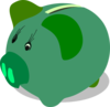 Green Piggy Bank Clip Art