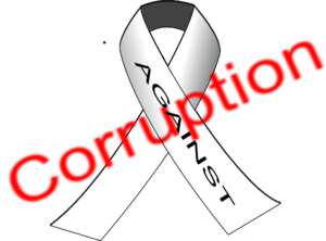 Against Corruption Clip Art
