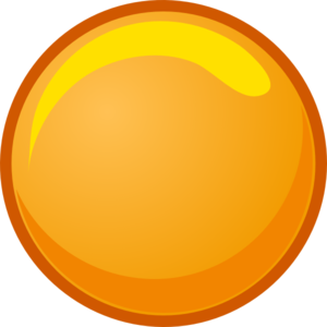 Button Orange Clip Art