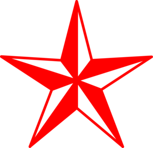 Red And White Star Clip Art