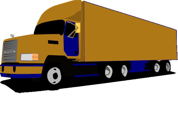 18 wheel truck blue and gold clip art at. Black Bedroom Furniture Sets. Home Design Ideas