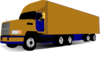 18 Wheel Truck Blue And Gold Clip Art