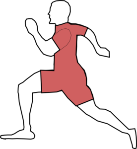 Red Running Man Clip Art