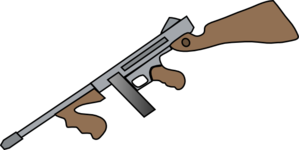 Thompson Machine Gun Clip Art