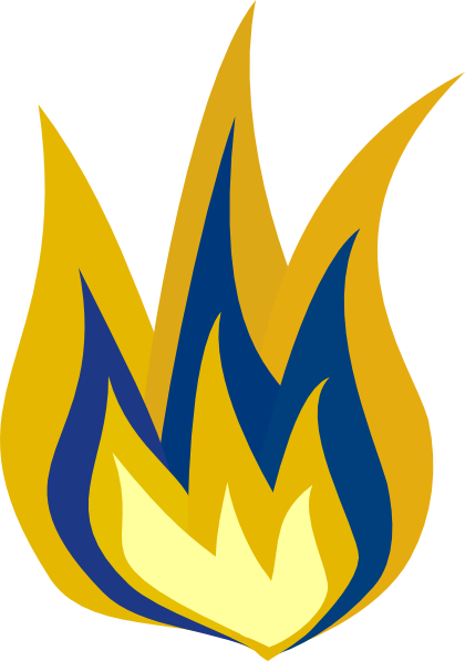 Blue And Yellow Flame Clip Art At Clker Vector Clip Art Online