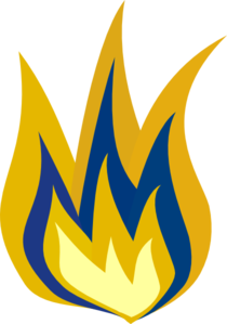 Blue And Yellow Flame Clip Art