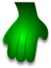 Green Monster Hand Clip Art