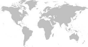 Gray World Map Clip Art