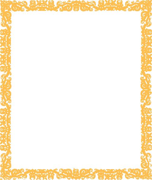 d5a2b5ffb7 Gold Cool Border Margin Clip Art at Clker.com - vector clip art ...