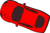 Red Car - Top View - 160 Clip Art