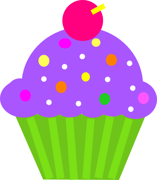 cupcake purple and lime clip art at clkercom vector